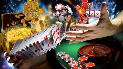 jeux trésor cartes jetons mains